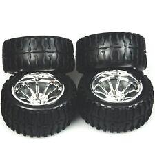4 PCS Wheel Rim & Tires  Redcat HSP 1:10 Monster truck RC Car 12mm Hub  88055