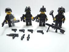 (no.4-10) custom swat police helmet military gun army for LEGO minifigures