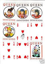 Carte da Gioco Playing Cards Poker Queen Innuendo Nuovo 56 carte