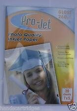 400 Sheets Projet 7x5 Photo Gloss 260gsm Paper