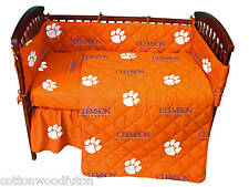 Clemson Tigers NCAA Crib 5 Piece Bed in a Bag Set