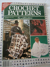 December 1989 Crochet Patterns Back Issue Magazine Afghan Puppet Slippers Scarf
