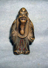 19th century Miniature Figural Carved Hard Stone Finial