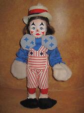 "Faith Wick Clown Doll Effanbee 1979 Vinyl 15"" Tags Collectors Dolls Clowns"