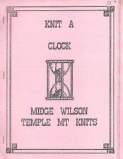 Midge Wilson KNIT A CLOCK for Machine Knitting Temple Mt Knits Vintage Patterns