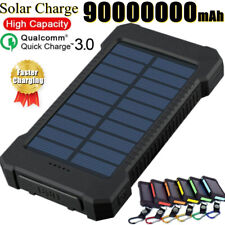 9000000mAh Fast Charge New Solar Waterproof Power Bank 2USB Battery Pack Charger