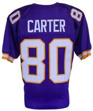 Cris Carter Unsigned Custom Purple Pro-Style X-Large Football Jersey