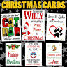 Rude Christmas Greeting Card Funny Wife Husband Mum Dad Bro Sister Mate Friend