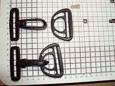 "2x Plastic Swivel,Swinging Snap Hook Clip Backpack Bag Buckle+ D Ring 50mm ""DKO"""