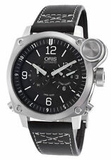 dea51582c Oris BC4 Flight Timer Chronograph Stainless Steel Watch 690-7615-4164LS