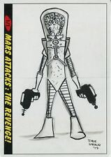 Mars Attacks The Revenge Panoramic Sketch Card By Dave Strong