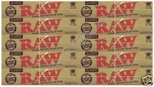 Raw Kingsize Classic Rolling Papers Hemp King Size Paper Set x10