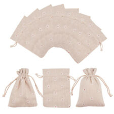 50PCS хлопок упаковки мешочком на шнурке цветок пшеница подарок сумка свадьба вечеринка услуга