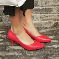 Women's Mary Jane kitten Stiletto Heels Pointy Toe Slip on office OL pumps Shoes