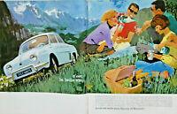 PUBLICITE DE PRESSE 1963 LA VIE EST BELLE AVEC PERRIER ET RENAULT