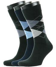 Jockey Mens Argyle Cotton Casual Socks 3 Pair Pack