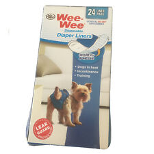 Four Paws Wee-Wee Dog Disposable Diaper Garment Pads 24 liner pads