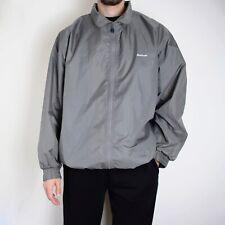 Vintage Reebok Windbreaker Jacket Mens Large Grey