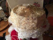 Vintage Cream colored Roberta Bernays Original Hat ! Nice Vail, felt ribbons !