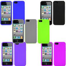 Paquete De 6-Goma Silicona Suave Gel Estuche Y Protector De Pantalla Para iPhone 5 5S SE