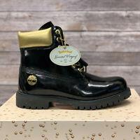 "Timberland Men's Premium 6"" Black & Gold Waterproof Boots A1U6J LIMITED EDITION"