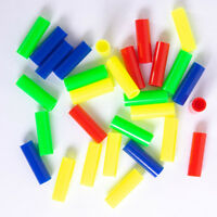 Bulk Pack of 400 Plastic Straw Beads - Mixed Color - 25mm Long - craft work