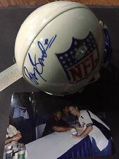 Barry Sanders Signed Mini Helmet Nfl Lions Hall Of Fame Registered Pic Signing