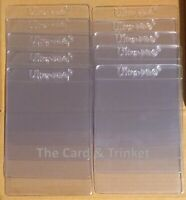 "10x Ultra PRO Semi-Rigid Card Sleeves 1/2"" Lip Clear Vinyl Graded Submission"