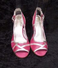 Shellys Womens Summer Pink Fuchsia Peep Toe Sling Back Sandals Size Uk 5 Eu 38