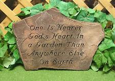 Nearer God's Heart In A Garden Prayer Plaque Latex Fiberglass Mold Concrete