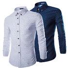 Fashion Mens Luxury Long Sleeve Shirt Casual Slim Fit Stylish Dress Shirts Tops