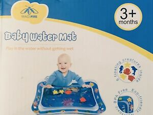 Tummy Time Baby Water Mat Infant Slapped Toys Inflatable Play Mat for 3-9 Months