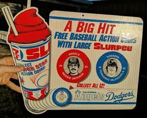 7Eleven Reggie Jackson F. Venezuela Baseball Die-Cut Advertising Display Sign