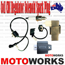 Coil + CDI UNIT + Regulator + Solenoid Spark Plug PIT Quad Dirt Bike ATV Buggy A