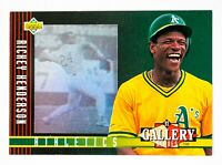 Rickey Henderson #29 (1993 Upper Deck) Diamond Gallery, Oakland Athletics