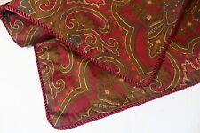 Ralph Lauren King Cotton Pillow Sham Brown Red Burgundy Paisley Cord Edge