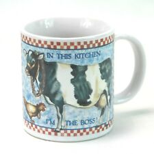 Otagiri Country Cow Cup Coffee Mug In This Kitchen Im The Boss Holstein Cow