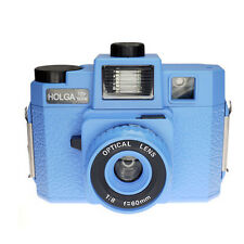 Holga 120GCFN Blue Medium Format Film Camera Glass Lens / Colored Flash