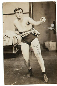 RARE Tommy Burns Heavyweight Champion Boxing HOF Rare RPPC Autographed Letter To