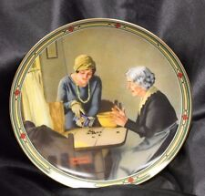 "Edwin M. Knowles ""A Family's Full Measure"" Collector's Plate By Norman Rockwell"