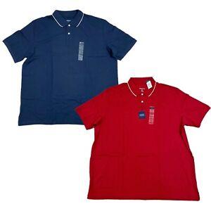 Harbor Bay Polo Shirt, Men's Big & Tall Combed Cotton Short Sleeve Top, 4XL