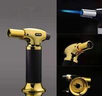 Torch Turbo Lighter Butane Cigar Windproof Kitchen BBQ Refillable Jet Lighters