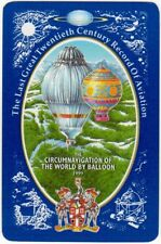 Playing Cards Single Card Old 1999 WORSHIPFUL Co. Aviation Art HOT AIR BALLOON 2