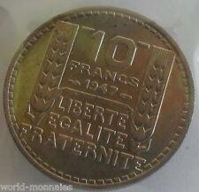 10 francs turin 1947 grosse tête : SUP : pièce de monnaie française