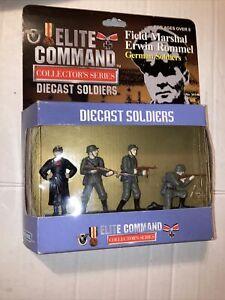 Blue Box Elite Command 4 Figure Set Rommel German Soldiers