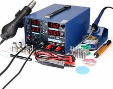 YIHUA 853D 2A USB SMD Hot Air Rework Soldering Iron Station, DC Power Supply...