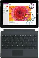"Microsoft Surface 3 & Keyboard WiFi 128GB Tablet 10.8"" Intel Atom Quad Core SSD"