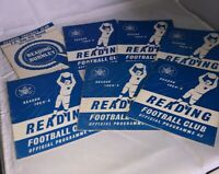 Collection of 7 vintage football programmes 1964/65 READING BURNLEY FA CUP
