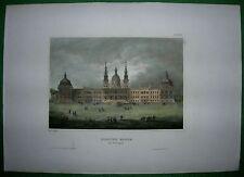 1842 Meyer print MAFRA NATIONAL PALACE, PORTUGAL (#42)