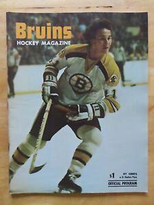 BOSTON BRUINS vs DETROIT RED WINGS December 22, 1974 Program BOBBY ORR